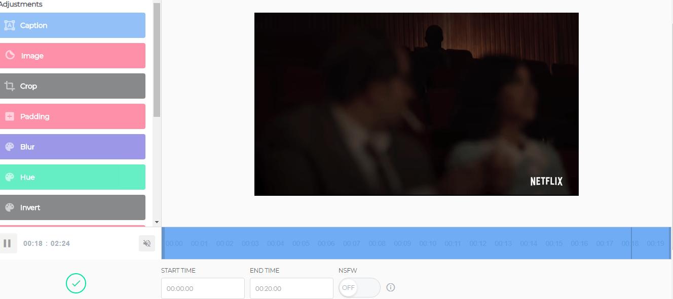 تحويل فيديو يوتيوب الى صوره متحركة GIF